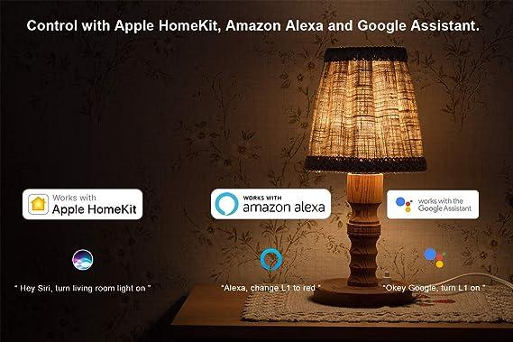 VOCOlinc L1 Bombilla de Luz LED Inteligente Smart Bulb, Regulable, Efectos de Iluminación, Funciona con Apple HomeKit y Google Assistant, No Se Requiere el ...
