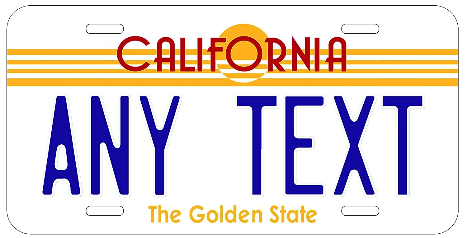 SteelLtd Custom Personalized Vintage California State License Plate Any Text or Name Novelty Auto Car Tag