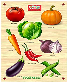 Zitto Premium Wooden Vegetables Educational Puzzle Toy