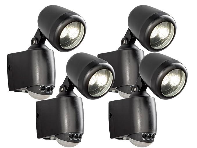 Konstsmide set di 4 led da parete montaggio luce prato con sensore