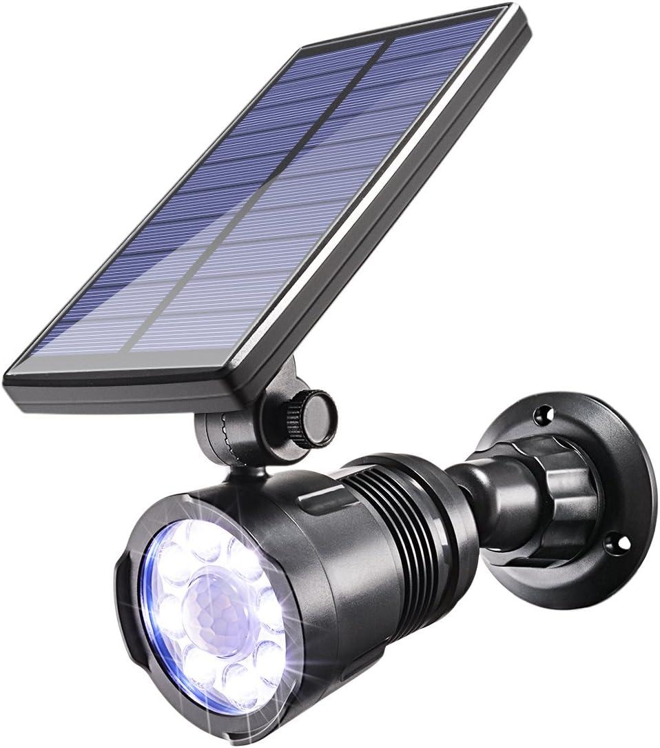 Solar Motion Sensor Lights Outdoor,Sunix 8 Bright LED Solar Garden Spotlight Solar Spotlights Garden Solar Security Light, Waterproof Solar Lights for Deck,Yard, Pathway,Porch Patio,etc