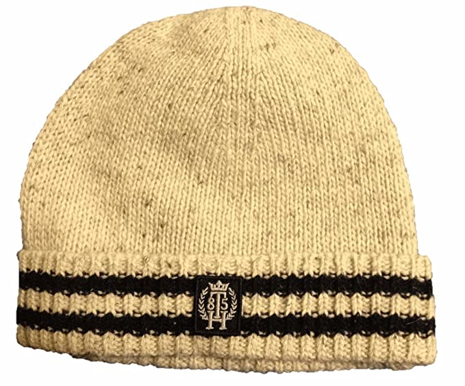 b0070342aa45 Tommy Hilfiger Men s Hat Beanie Beige Wool at Amazon Men s Clothing ...