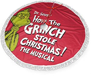 The Grinch Stole Christmas Christmas Tree Skirt Holiday Party Decorations Home Ornaments