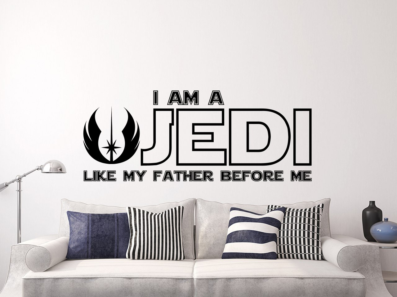 amazon com i am a jedi like my father before me wall decal vinyl amazon com i am a jedi like my father before me wall decal vinyl sticker decals quotes star wars wall decal quote wall decor nursery baby room art x3