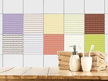 GRAZDesign Fliesenfolie Küche selbstklebend Set - Küchenfliesen ...
