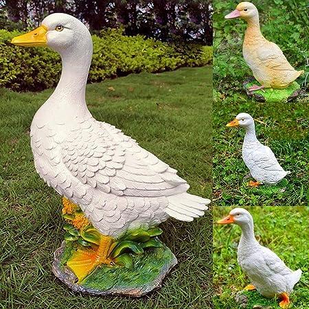 Estatuas para jardín Resina Duck Estatuas De Jardín Esculturas Inicio Adornos Realistas Al Aire Libre Estanque Decoración Crafts del Paisaje A ~ 25 * 15 * 32CM: Amazon.es: Hogar
