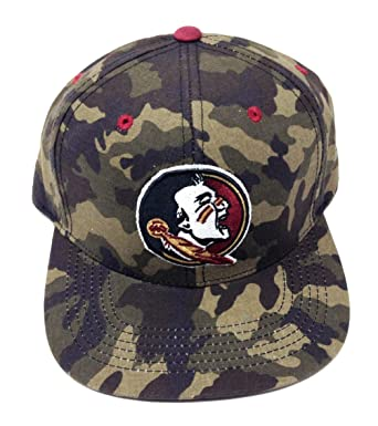 1705b6c4 NCAA Woodland Camo Flat Bill Snapback (FSU - Florida State University -  Seminoles)