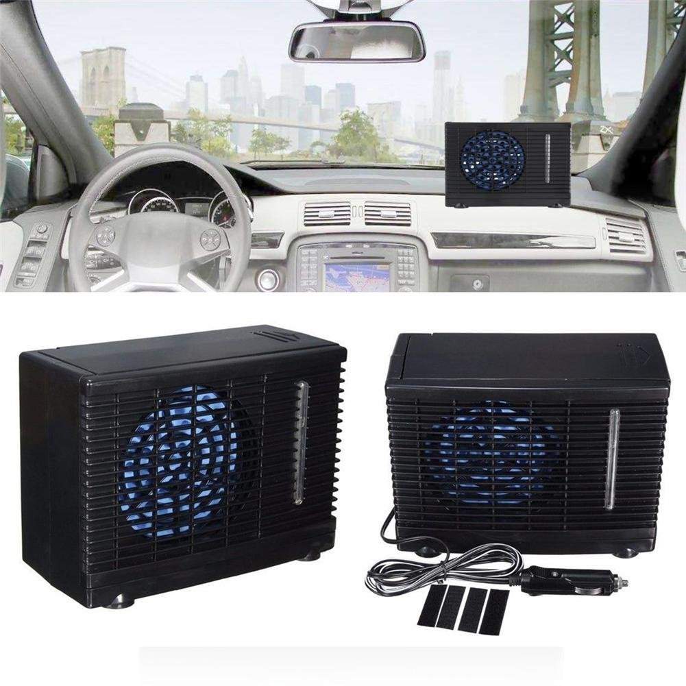 12V Universal Portable Car Air Conditioner Cooler Cooling Fan Personal Fan Evaporative Coolers DC for Car Home Camping Junda