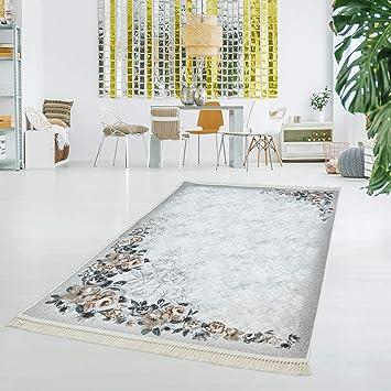 myshop24h Druckteppich Waschbar Teppich Küche Wohnzimmer Rose Rosen ...