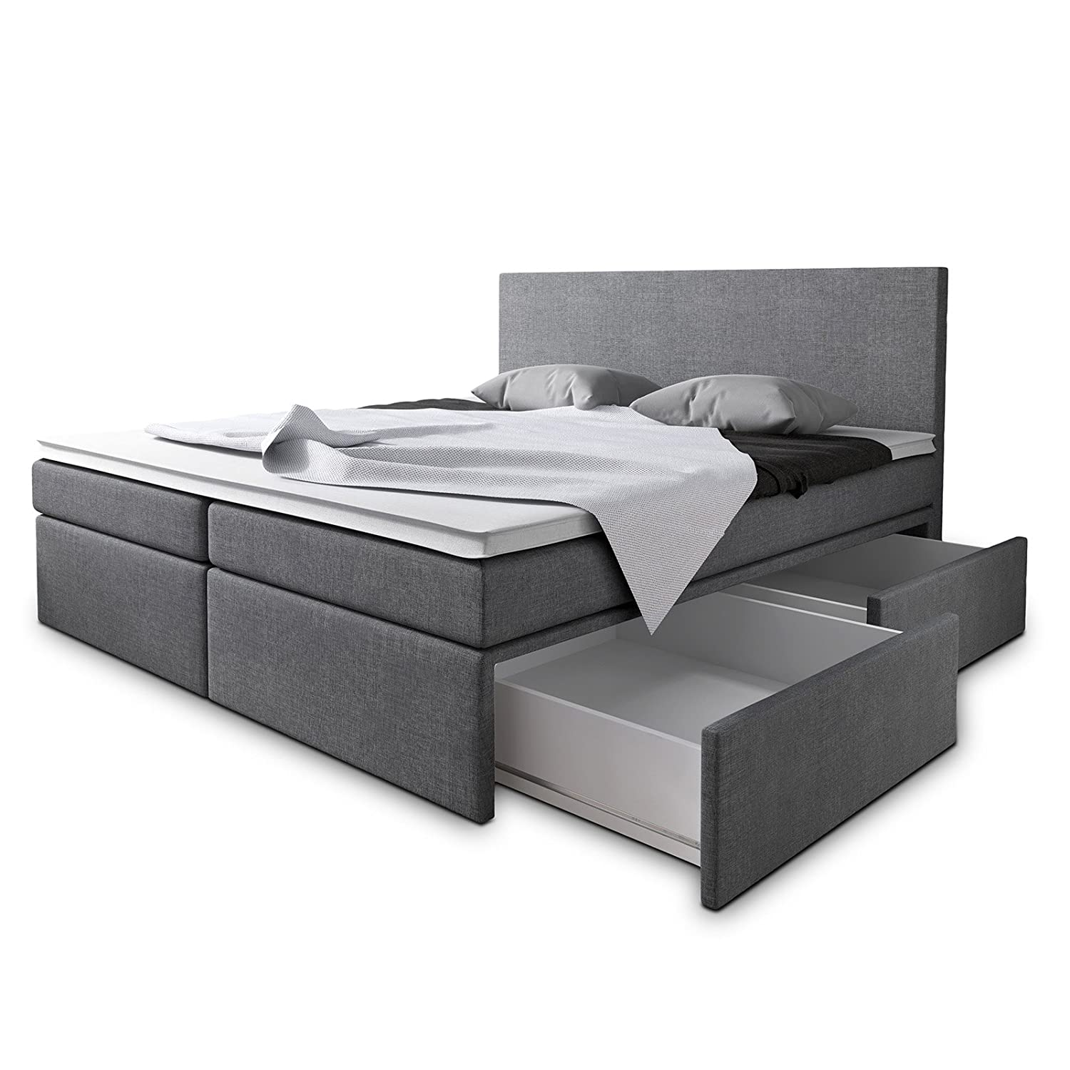 boxspringbett 140 200 mit stauraum. Black Bedroom Furniture Sets. Home Design Ideas