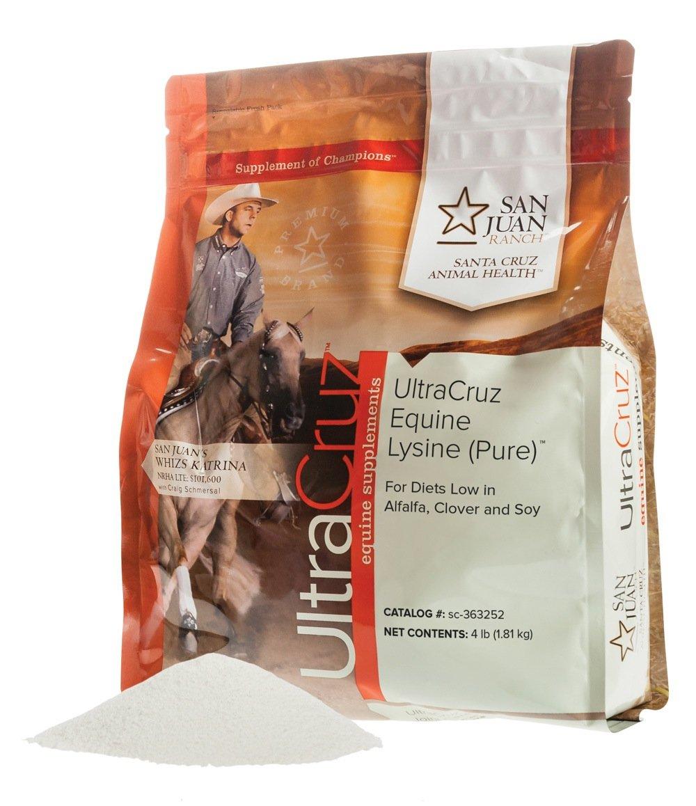 UltraCruz Equine Lysine (Pure) Supplement for Horses, 4 lb, Powder (360 Day Supply) by UltraCruz