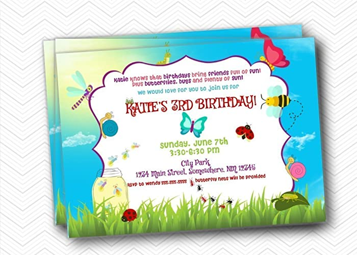 Image Unavailable Not Available For Color Bug Kids Birthday Party Invitations