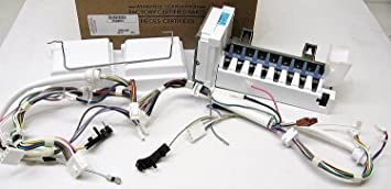 710QHxNfEtL._SX355_ amazon com maytag w10882923 refrigerator ice maker assembly home ice maker wiring harness maytag at readyjetset.co