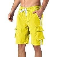 TACVASEN Zwemshorts voor heren, zomer, vakantie, ademende strandshorts, korte vrijetijdsbroek met mesh-voering