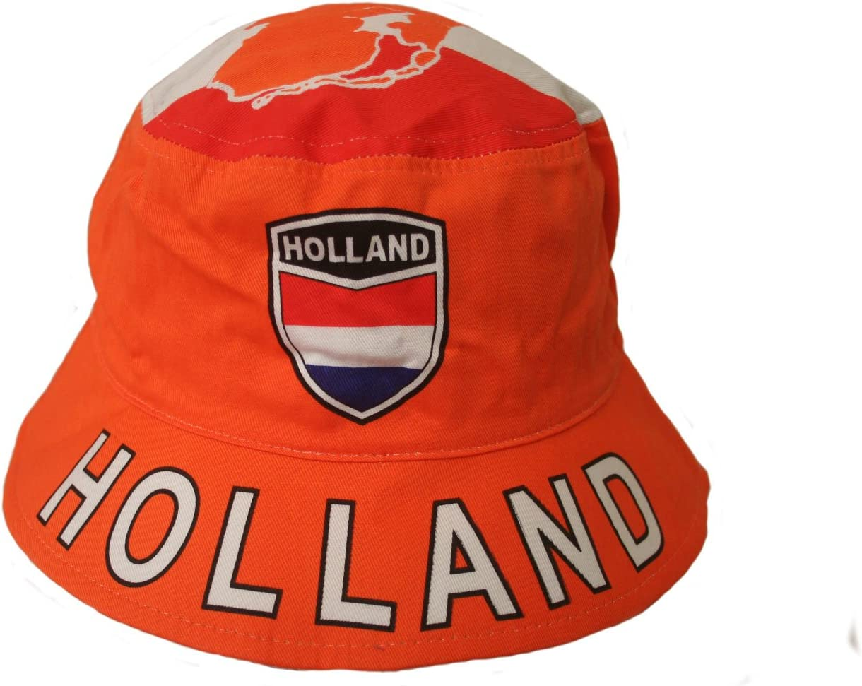 Netherlands Flag Knit Beanie Hat Embroidered