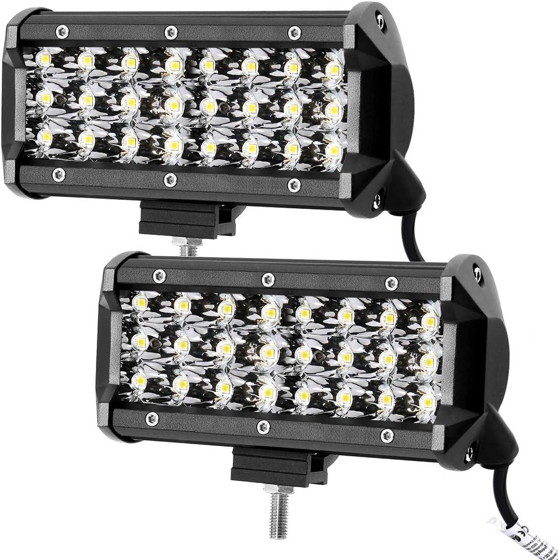 Leetop 10X 72W Faro Trabajo LED,Super Bright y Potentes Focos LED Coches 6000K IP67 Impermeable de Faros Adicionales Blanco Fr/ío para Off-Road Tractor,Cami/ón