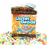 Water Beads Rainbow Mix (45,000 beads), Aweoods Water Growing Balls for Kids Tactile Sensory Toys, Vase Filler, Plants Decoration