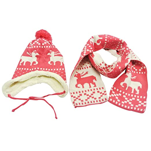 Image Unavailable. Image not available for. Color  Children s Reindeer  Winter Hat ... 87fa12180a6