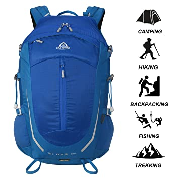 b985b3f1b5ec AI ONE 30L Outdoor Sports Camping Hiking Waterproof Backpack Rucksack  Mountaineering Bag for Traveling Trekking with Rain Cover  Amazon.co.uk   Sports   ...