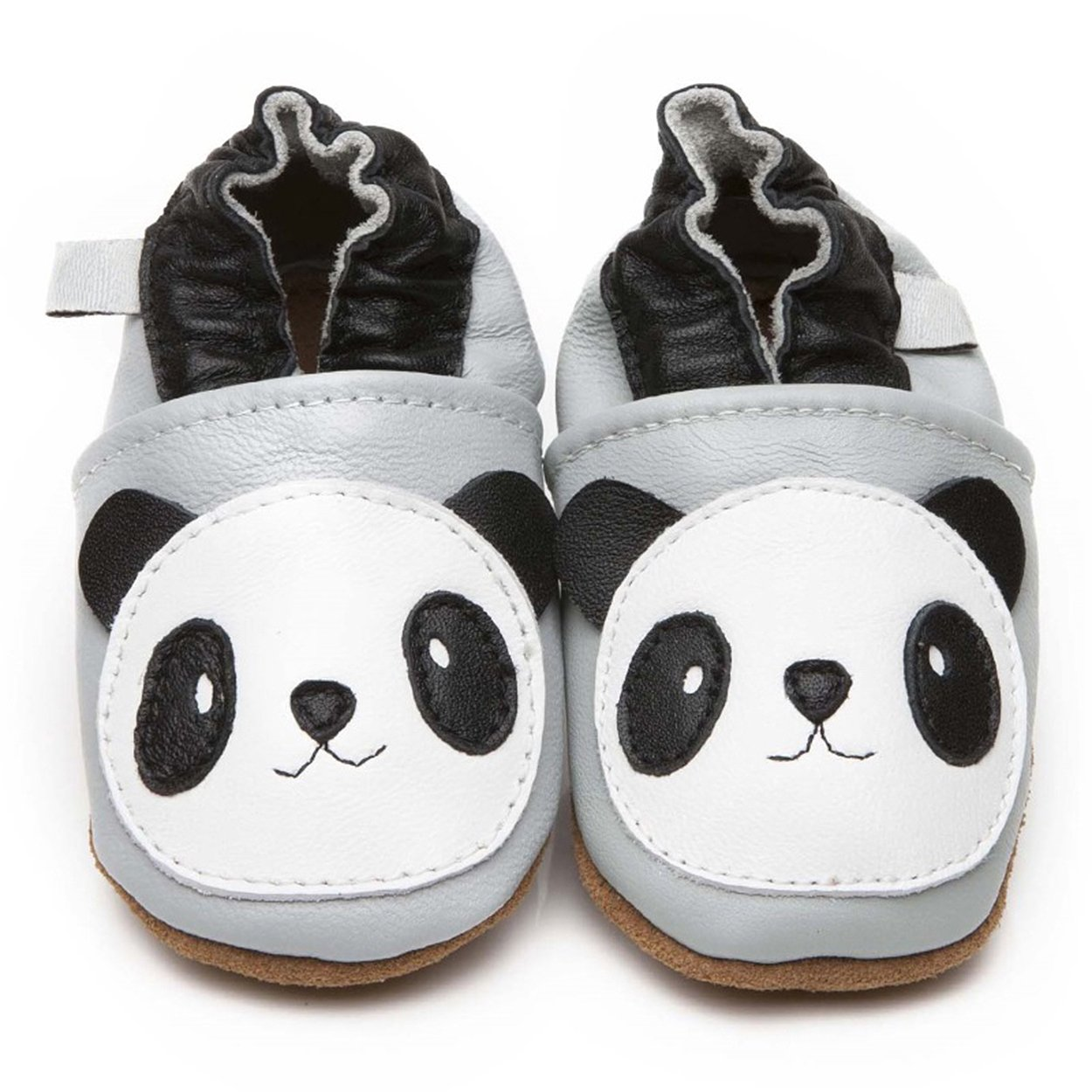 Chaussures en cuir de luxe pour bébé Panda 0-6 mois Little Starters
