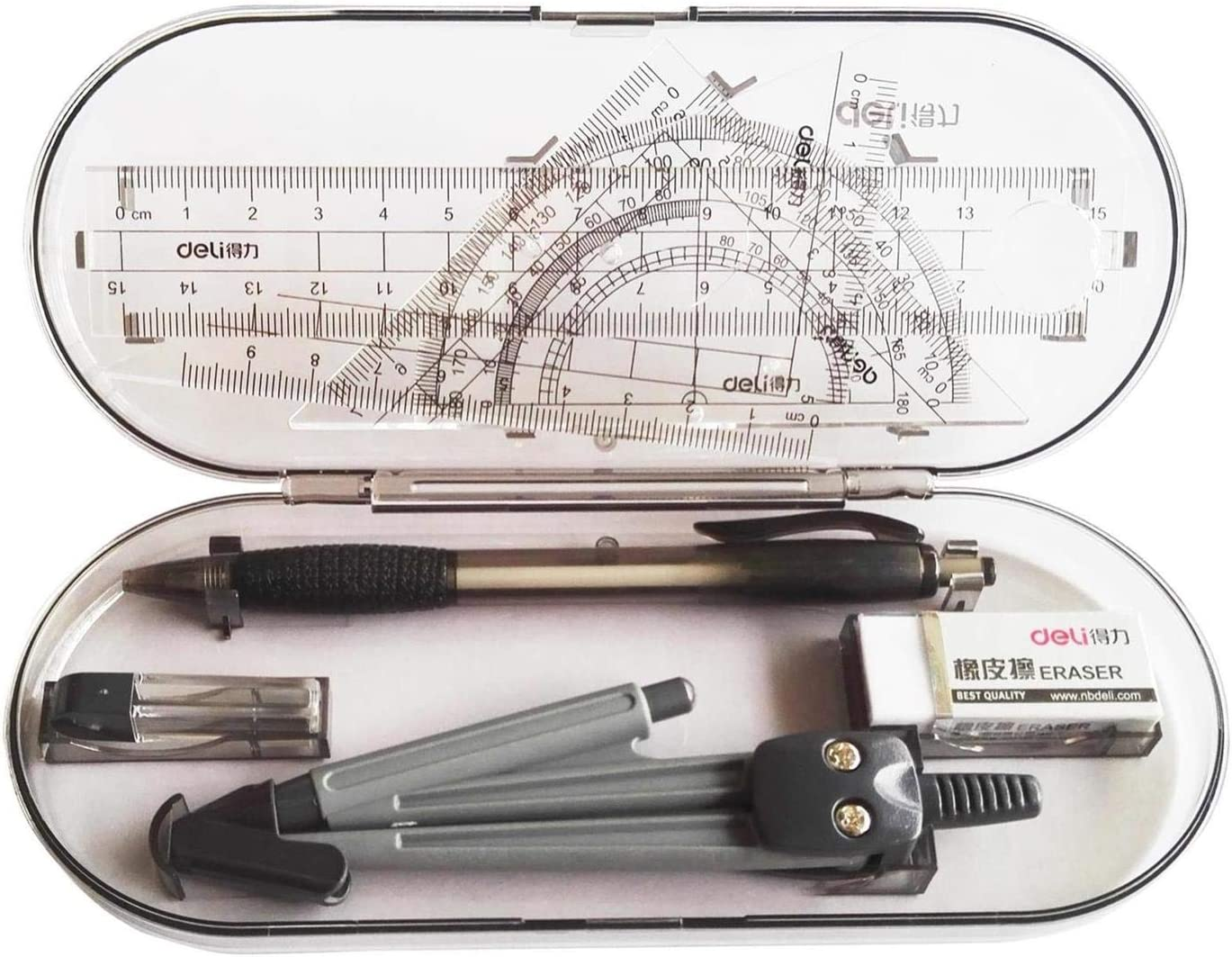 New 8 piece music stationary kits pencil cases mechanical pencils erasers rulers