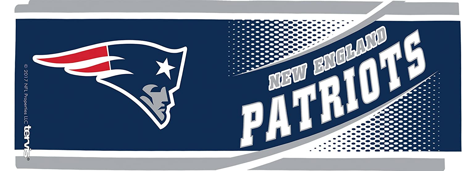 Clear Tervis 1257541 NFL New England Patriots Legend Tumbler with Wrap and Navy Lid 16oz Mug