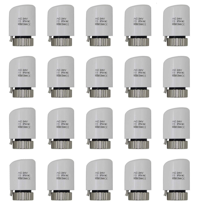 actuador electrotermico per colector calefaccion multicapa distribuidor suelo radiante 1//10//20 piezas 230v Normalmente cerrado, 20 piezas