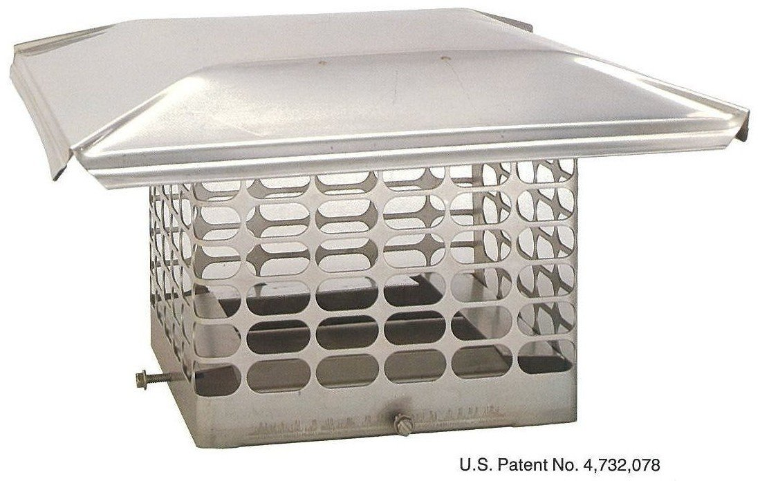 10 x 10 Single Flue Stainless Steel Chimney Cap by Chim Cap Corp.