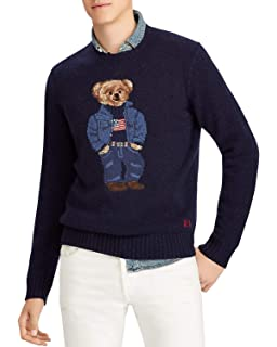 Lauren Cable Men's Amazon Ralph Polo Bear Sweater At Knit WH2EIY9D