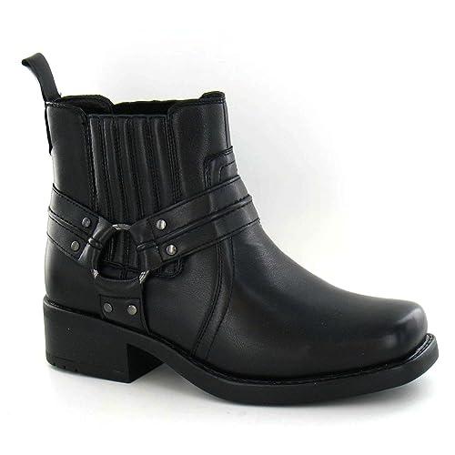 Maverick - Botines con tira con aro modelo Cowboy para hombre: Amazon.es: Zapatos y complementos