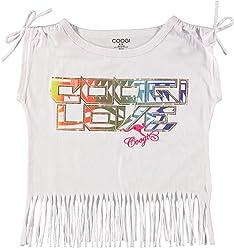 Coogi Girls Fringe Shirt With Multi Color Design