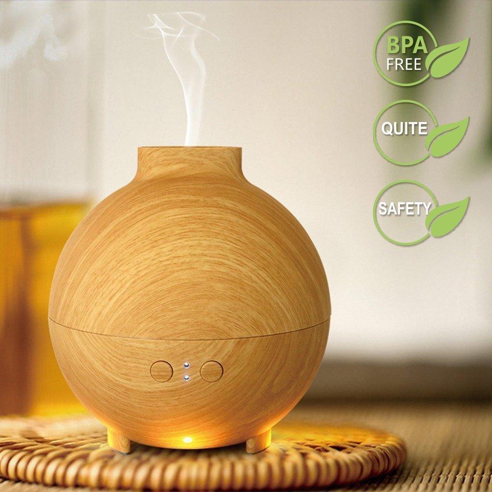 Sencillo Vida Difusor Aromaterapia de Vapor Fr/ío Difusor de Aceites Esenciales Ultras/ónico Humidificador Auto-Apagado para el Hogar Oficina Yoga