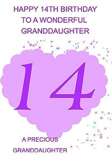 Granddaughter 14 Birthday Card