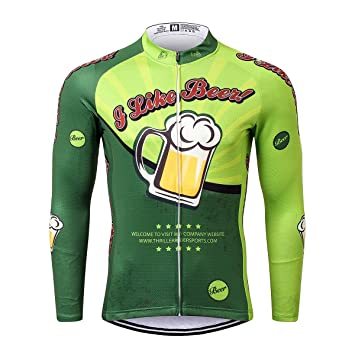 Thriller Rider Sports® Mens I Like Beer Outdoor Sports Mountain Bike Long  Sleeve Cycling Jersey 1991bbc92