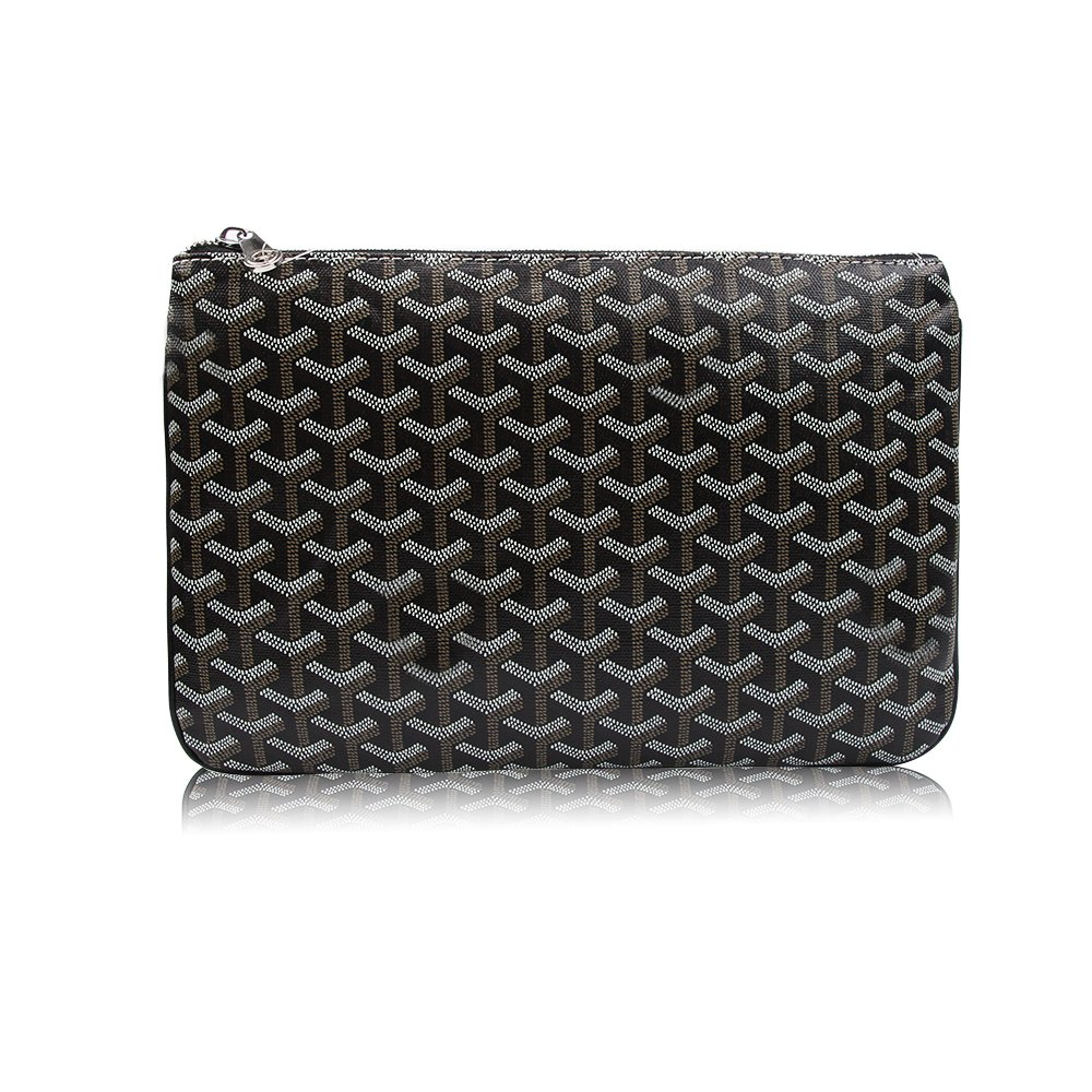 Stylesty Men's Clutch Bag Envelope Portfoli, Fashion Pu Large Envelope Clutch Purse (Large, Dark Grey)