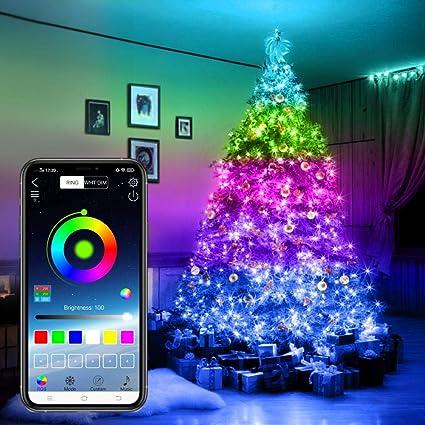 Christmas Tree Decoration Lights Custom LED String Lights App Remote Control UK