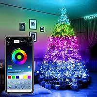Christmas Tree Decoration Lights, Smart App Controlled Christmas Lights, for Christmas Tree Garden Decoration Custom Led…