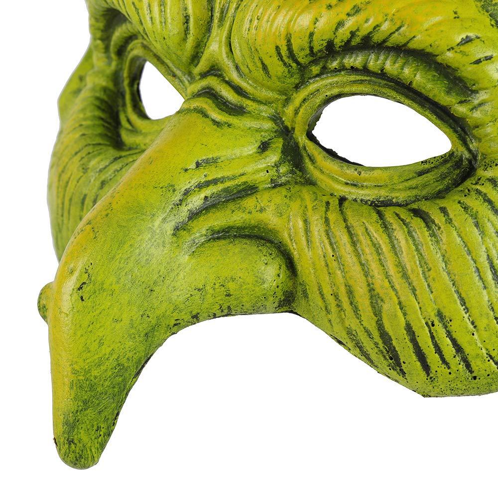 BaronHong Máscaras de Brujas de Disfraces de Cosplay de Media Cara Adultos Carnival Party para niños (Verde, M): Amazon.es: Hogar