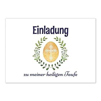 15 X Einladung Zur Taufe Einladungskarten Mit Umschlag Im