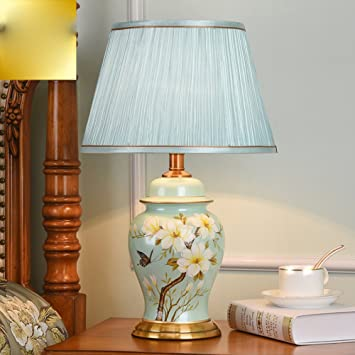 liguqi @ European Style lámpara dormitorio noche lámpara de mesa creativa Fácil Americanas moderna calientes ajustable cerámica Luz cálida, Ein Abschnitt, ...