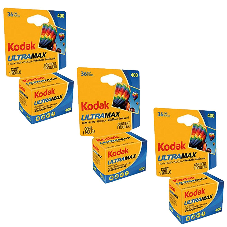 kodak 3 PACK Kodak Ultramax 400 Color Print Film 36 EXP. 35MM DX 400 135-36 (108 PICS) EL-PN-47330644