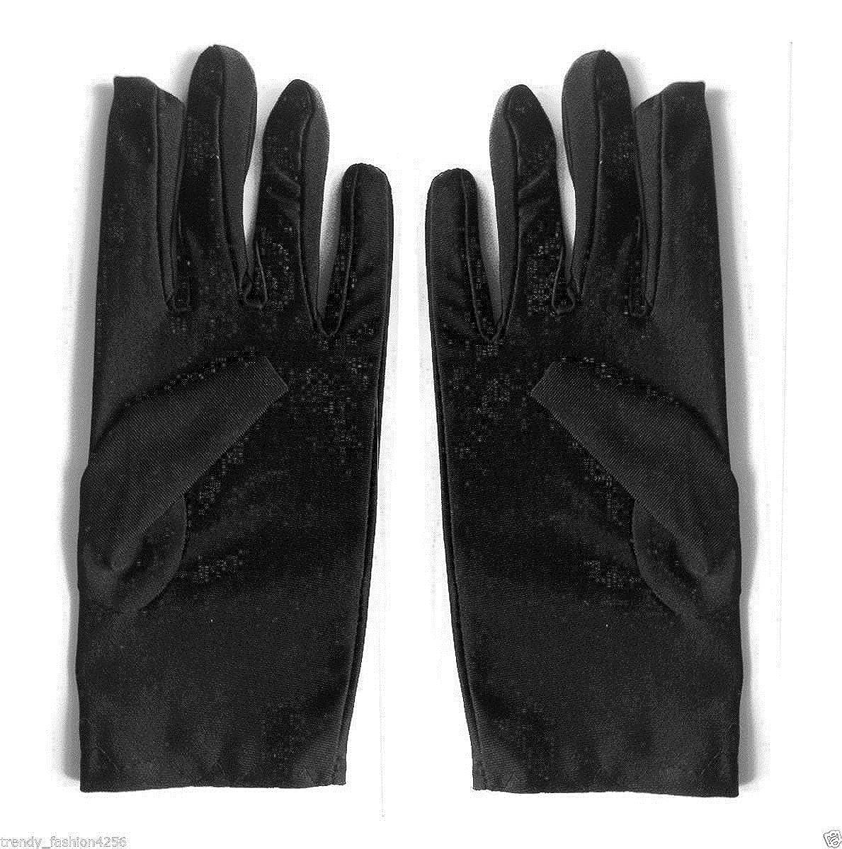 struts-1246 Adult Mens Scream Style Short Black Gloves
