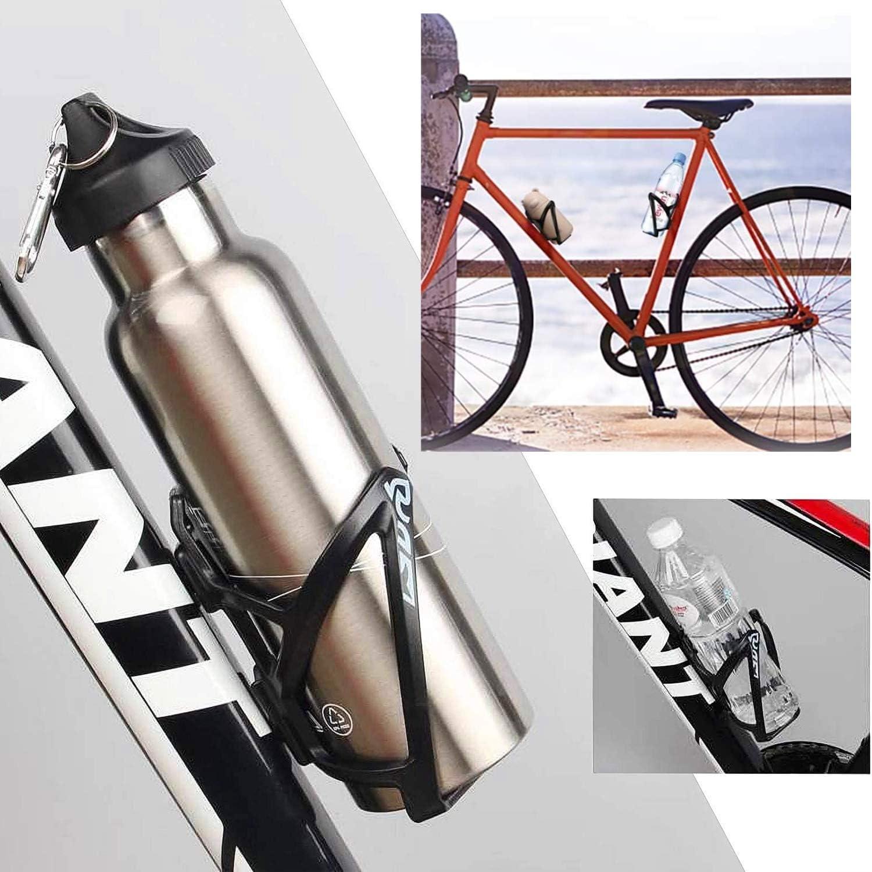 QNFY Jaula de Botella de Agua de Bicicleta Ligero Sostenedor de la Botella de Bicicleta Portavasos Fuertes para Bicicletas Hervidor de Ciclismo para Bicicletas de Carretera Monta/ña y Ni/ños