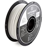 HATCHBOX PLA 3D Printer Filament, Dimensional Accuracy + or - 0.03 mm, 1 kg Spool, 1.75 mm, White