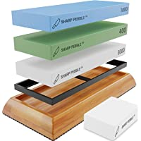 Sharp Pebble Extra Large Sharpening Stone Set - Whetstone Knife Sharpener Set - Grits 400/1000/6000 Waterstone…
