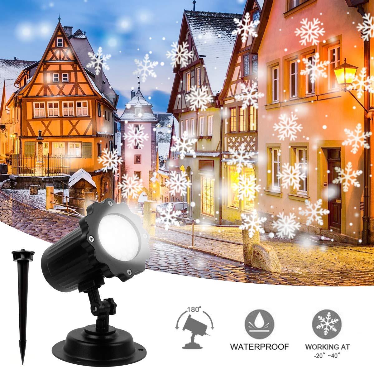 Proiettore Luci Natalizie Per Interno.Dettagli Su Proiettore A Luce Di Fiocco Neve Luci Natale A Led Decorativo Per Interni