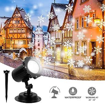 Proyector Navidad LED,Proyector de luz de copo de nieve, LED Luces ...
