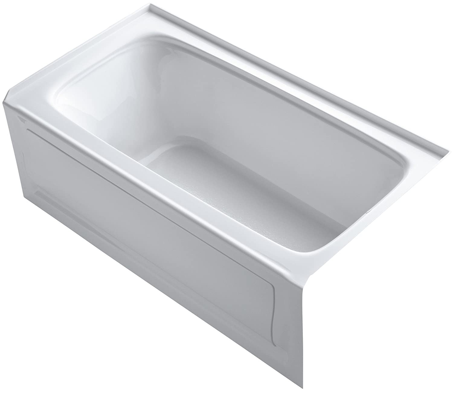 KOHLER K-1150-RA-0 Bancroft 5-Foot Bath with Right-Hand Drain, White ...