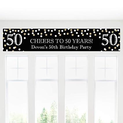 Amazon.com: Custom adulto 50º cumpleaños – Oro ...