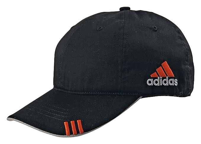 4e8c3a69 adidas Golf Lightweight Cotton Front Hit Cap, Black/Mid Grey/Intense Orange